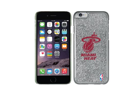 Miami HEAT Silver Glitter Coveroo Case iPhone 6 Plus
