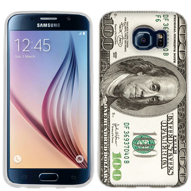 SAMSUNG GALAXY S6 EDGE BENJAMIN $100 CASE COVER