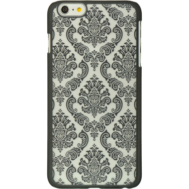 BLACK LACE APPLE IPHONE 6 PLUS CLEAR TPU GEL COVER CASE