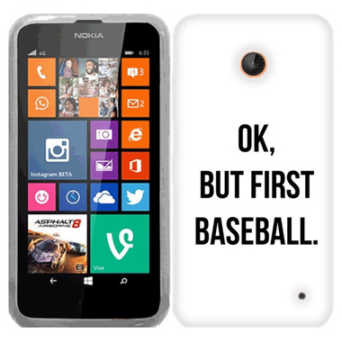 NOKIA LUMIA 630 635 FIRST BASEBALL CASE COVER