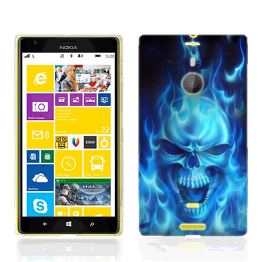 NOKIA LUMIA 1520 FLAMING SKULL CASE COVER