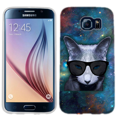 SAMSUNG GALAXY S6 EDGE GALAXY CAT CASE COVER