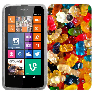 NOKIA LUMIA 630 635 GUMMY BEARS CASE COVER