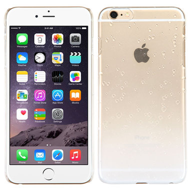 WHITE CLEAR APPLE IPHONE 6 PLUS WATER DROPS HARD COVER CASE