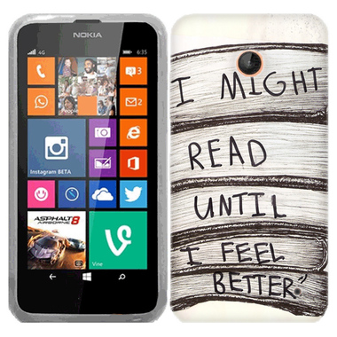 NOKIA LUMIA 630 635 I MIGHT READ CASE COVER