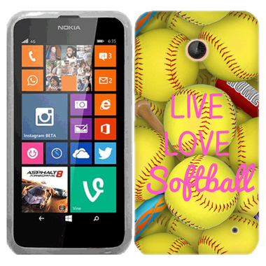 NOKIA LUMIA 630 635 LOVE SOFTBALL CASE COVER
