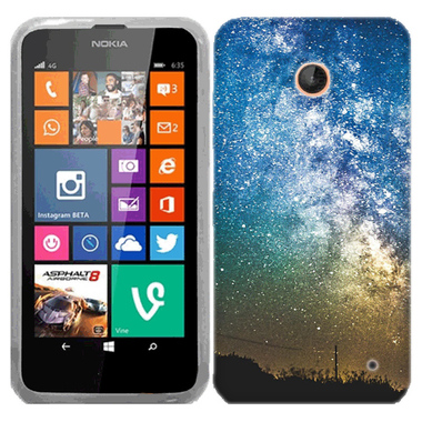 NOKIA LUMIA 630 635 NIGHT STARS CASE COVER