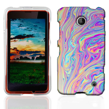 NOKIA LUMIA 630 635 SWIRL PAINT CASE COVER