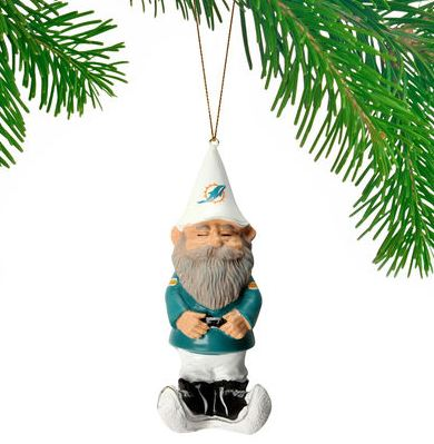 Miami Dolphins Gnome Ornament