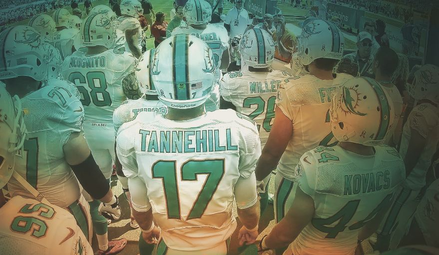 Miami Dolphins Huddle Wallpaper