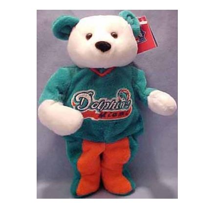 NFL Miami Dolphin Teddy Bear by Salvino Bammer
