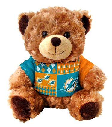 Miami Dolphins Ugly Sweater Bear