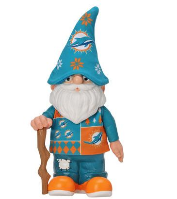 Miami Dolphins Busy Block Real Ugly Sweater Gnome