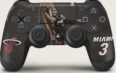 Miami Heat Dwayne Wade Skin for PlayStation - Click Image to Close