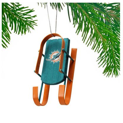 Miami Dolphins Sled Ornament