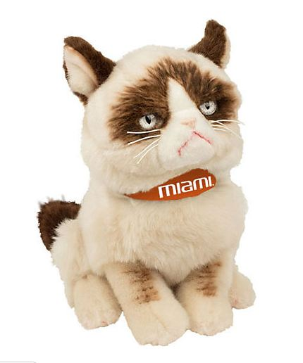 University of Miami 9'' Grumpy Cat Plush