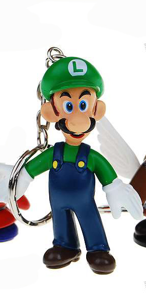 Luigi Super Mario Brother Keychain