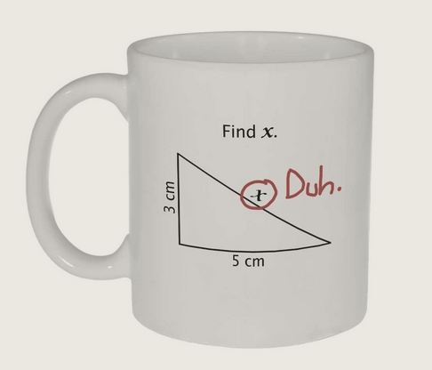 Find X Math Equation Coffee Mug