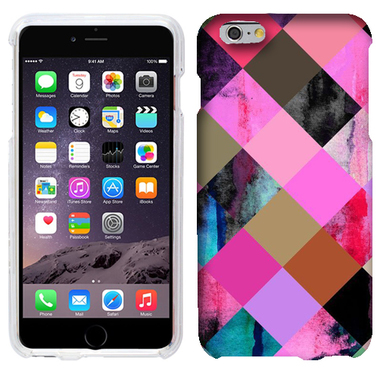 APPLE IPHONE 6 PLUS COLOR CHECKERS CASE COVER