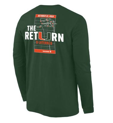 Miami Hurricanes Laternal Return T-Shirt Sweater
