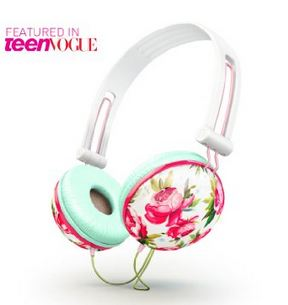 Ankit Fat Bass - Pastel White Floral Noise Isolating Headphones