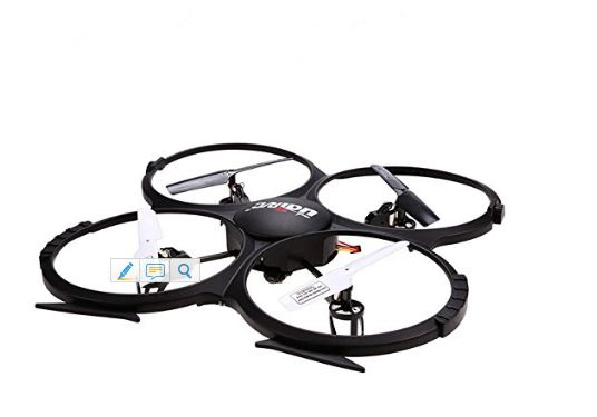 UDI U818A 2.4GHz 4 CH 6 Axis Gyro RC Quadcopter with Camera RTF